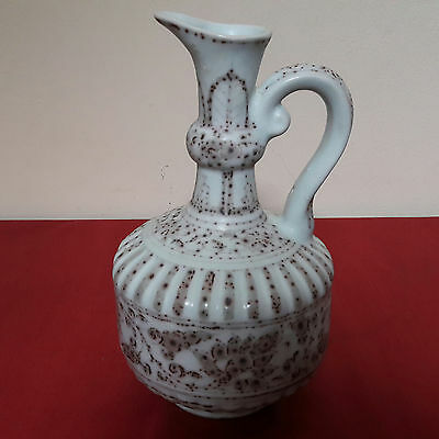 RARE Old and Antique Chinese Yuan Copper Red Peony Flower Arabic Style Ewer