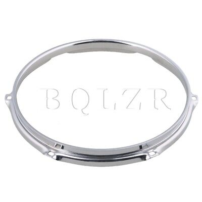 BQLZR Silver Dia 10 Inch 6 hole Snare Drum Hoops Rims for Drums and Percussion