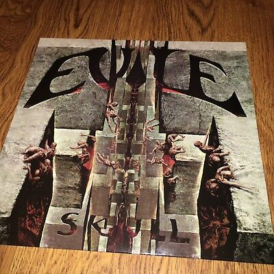 Evile - Skull VINYL RECORD WITH SIGNED BAND PHOTO - AUTOGRAPHS