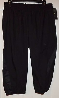 Nike Power Womens Dri Fit Black Capri Tack Training Pants 803092 010 Size Medium