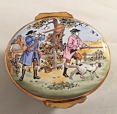 Halycon Days Crummles enamel box hunting and dogs..special box special person