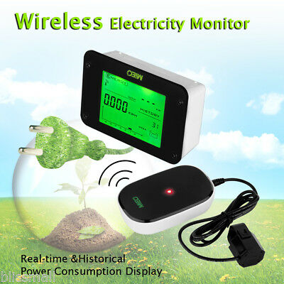 Wireless Electricity Power Consumption Usage Meter Smart Energy Saving Monitor