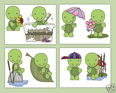 Turtle Nursery Decals Wall Art Stickers Baby Woodland Animals Kids Room Decor
