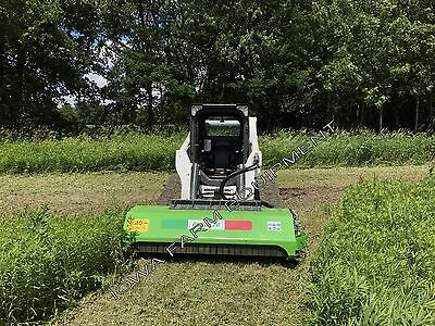 """Skid Steer Flail Mower: Peruzzo SS190, 75"""" DIRECT DRIVE Cut To 4""""Dia, 25-35GPM's"""