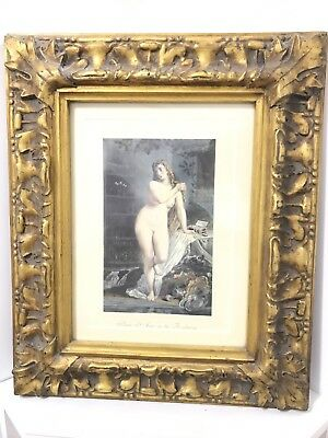 Antique French Classic Decorative Framed Art