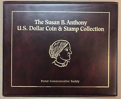 PCS U.S.Susan B. Anthony Dollar Coins (11) & Stamp Complete Collection Album A7