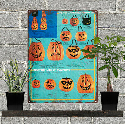 1971 Halloween Blow Mold Advertising Ad Baked Metal Repro Sign 9 x 12 60133