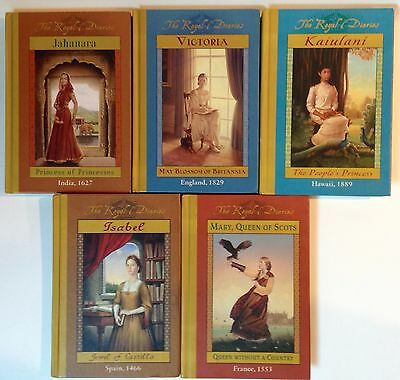 Lot of 5 The Royal Diaries Hardcover Books homeschool history