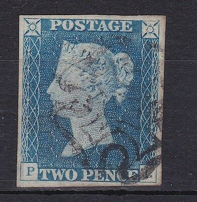 GB116) Great Britain 1840 2d Blue. Lovely 4 margin example, SG 5