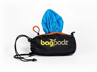 BagPodz - Reusable Grocery Bag and Storage System Caribbean Blue (contains 5)