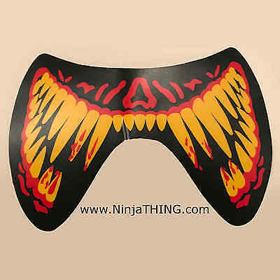 Sound Activated EL Mask, Ninja THING Mask, Light Up Mask, Yellow Fangs SEE VIDEO