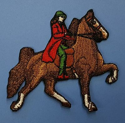 """Saddlebred Horse & Rider, Embroidered Patch Approx Size 2.7""""x 2.5"""""""