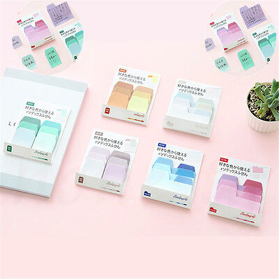 1pc Macaron Color Multi Color Stickers Bookmark Marker Memo Sticky Notes