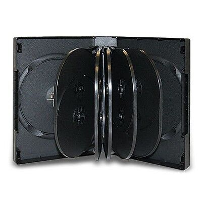 2PCS Multi 12 Disc DVD Cases CD Storage Black Holds Tweleve