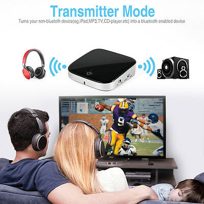 NEW 2 in 1 Wireless 4.1 Bluetooth Audio Music A2DP Receiver Transmitter Adapter