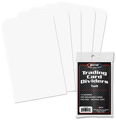 Bcw Tall Trading Card Dividers  - BRAND NEW