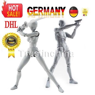 Body DX Set Chan Female Kun Male Gray Ver. Doll PVC Figure SHF S H Figuarts 2pcs
