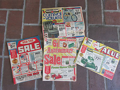 Western Auto 1960 Vintage Sales Fliers -  Bicycles - Wizard Mowers
