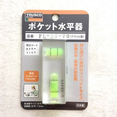 TRUSCO PL2570 Pocket level 25 x 70 Level instrument Tools Brand New From JAPAN