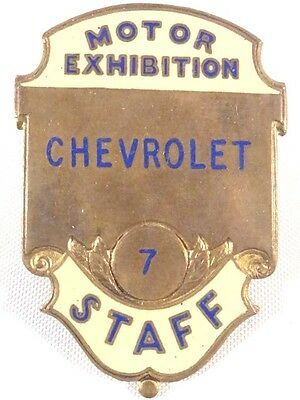 Chevrolet Motor Exhibition Staff Enamel Badge Advertising Automobile Pinbacks