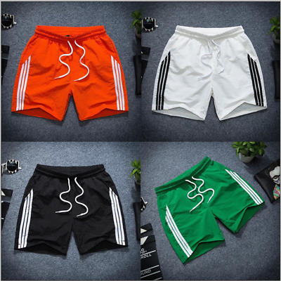Mens Quick-Dry Slim Pockets Casual Summer Sports Gym Beach Shorts Pants Trousers