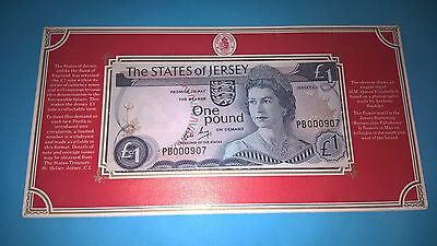 £1 one pound extremely low prefix in folder,UNCIRCULATED-very rare