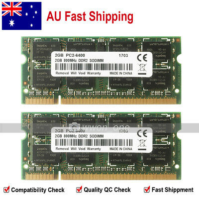 AU 4GB 2x2GB PC2-6400 DDR2-800Mhz SODIMM Memory For Macbook 2009 iMac 2008