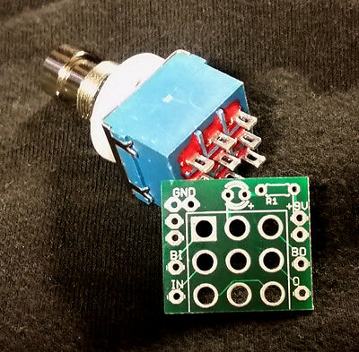 3PDT Stomp Switch Wiring PCB Guitar Effect Pedal - FREE Worldwde shipping