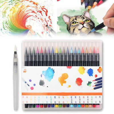 20 Colors Sketch Marker Watercolor Painting Pen Set Deluxe Soft Water Brush