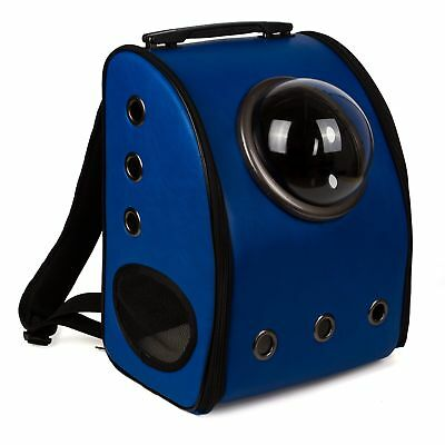 Astronaut Capsule Pet Backpack Breathable Cat Dog Puppy Travel Carrier Bag Blue