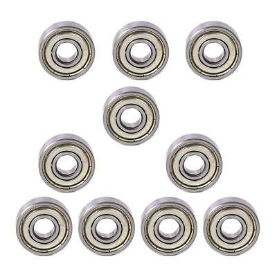 10PCS Metal 606ZZ LW Miniature Deep Groove Shielded Ball Bearings 6 x 17 x 6 mm