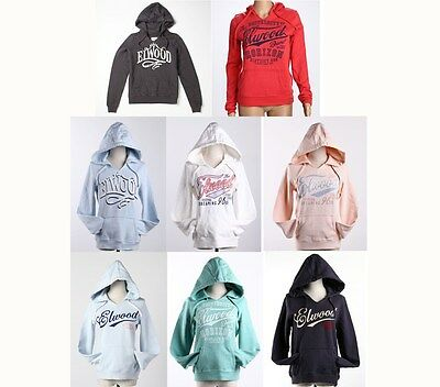 Elwood Womens Classic Pullover Fleece Hoodie Jumper Tracksuits Top Size XS-L