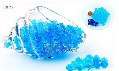Blue Transparent color Crystal Mud Soil Water Beads Bio Gel Ball For Flower/Weed