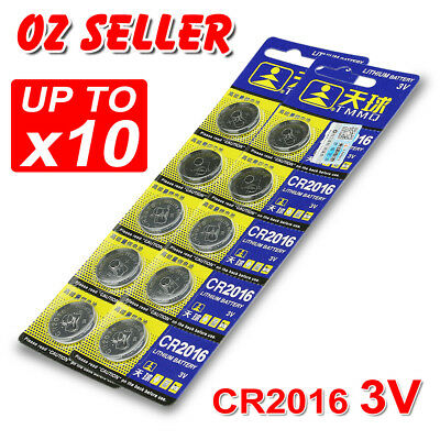 5-10X Cr2016 3V Battery Batteries Lithium Car Key Alarm Garage Remote Calculator