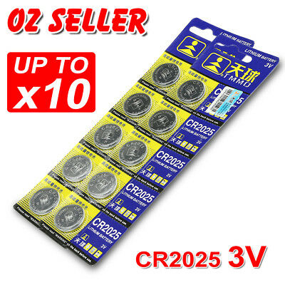 5-10X Cr2025 3V Battery Batteries Lithium Car Key Alarm Garage Remote Calculator