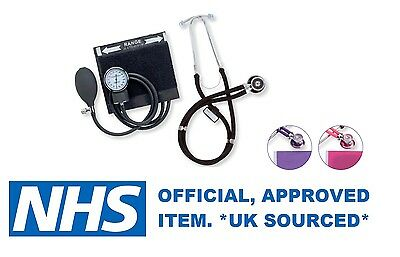 Emerald Stethoscope & Sphygmomanometer Meter Set Nhs Quality *uk Sourced* New