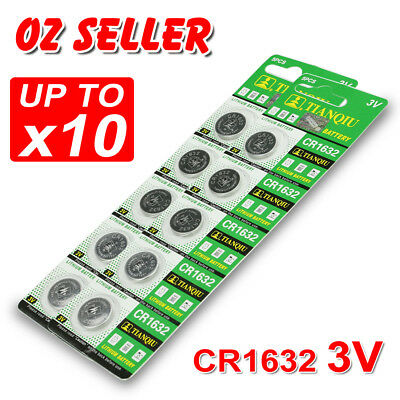 5-10X Cr1632 3V Battery Batteries Lithium Car Key Alarm Garage Remote Calculator