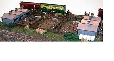 N Scale Architect N 10703 (QME703) Quality Meats Stock Yard Kit