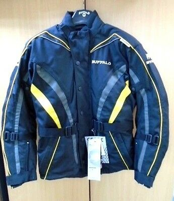 Buffalo Jaguar Black Yellow Textile Waterproof Motorcycle Jacket New £79.99!!