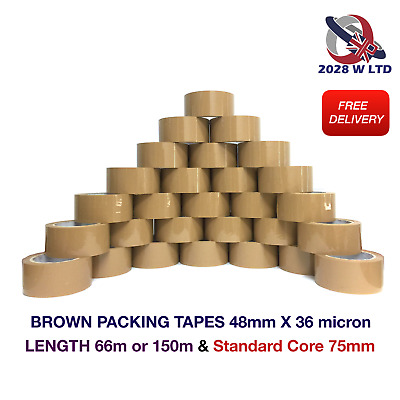 BROWN PARCEL PACKING TAPE- 48mm*36 micron LENGTH:66m OR 150m (STRONG, LOW NOISE)