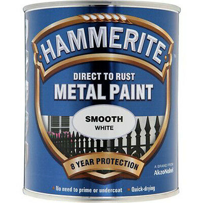 Hammerite Direct to Metal Paint Smooth White 750ml