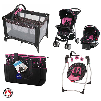 Baby Stroller And Car Seat Combo Girl Playard Bassinet Swing Chair