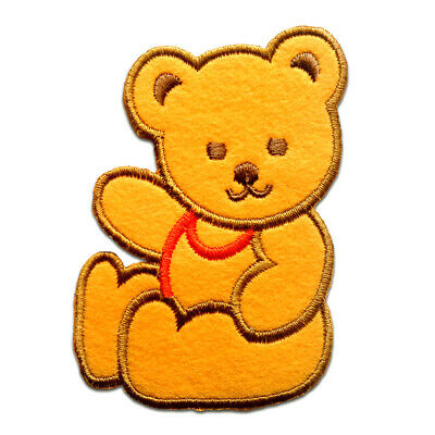 Iron on patches care bears bear animal pink//orange 8,2x6,7 Application badges