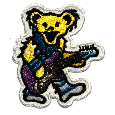 bear sits animal brown Iron on patches Application Embroided b 5,2x4,6cm