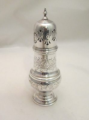 A Good Vintage Silver Plated Sugar Shaker / Sifter - Engraved Surface