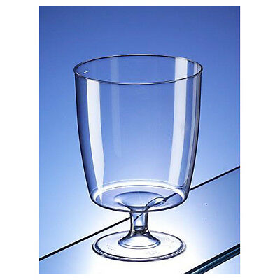 One Piece Disposable Plastic Wine Glasses 200ml Pack of 40