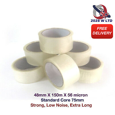 CLEAR PARCEL PACKING TAPE - 48mm*150m*56mic (STRONG, LOW NOISE, EXTRA LONG)