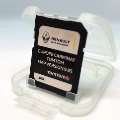 RENAULT Tom Tom CARMINAT NAVIGATION SD CARD EUROPE + UK MAP V 9.85 2017-2018