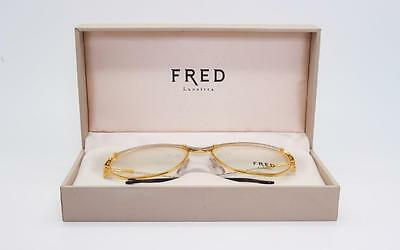 Vintage Fred Cythere Gold & Plat Plated Nos 55-16 Sunglasses Or Eyeglasses Rare