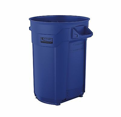 Suncast Commercial BMTCU32BL 32 Gallon Utility Trash Can, Blue